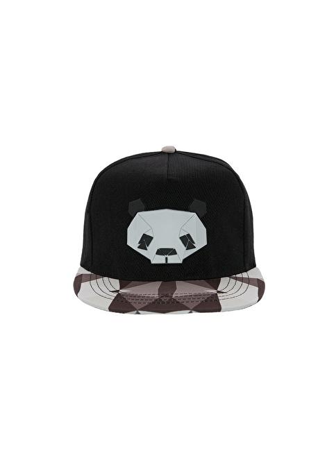 Laslusa Panda Hip Hop Snapback Şapka Siyah